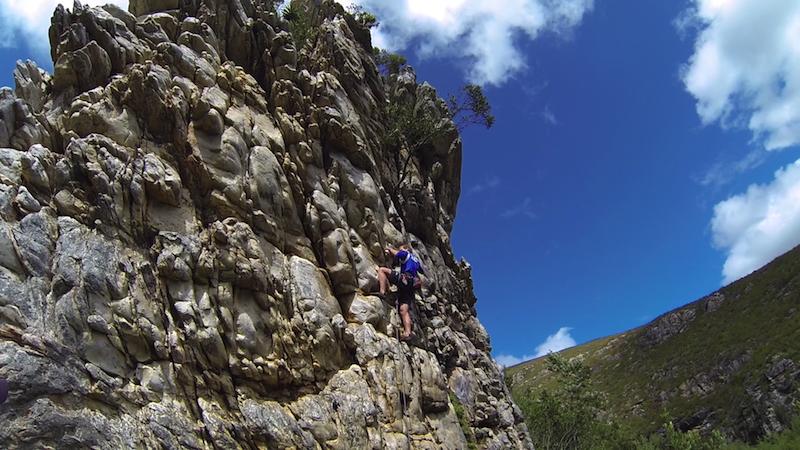 Montagu pass climbing